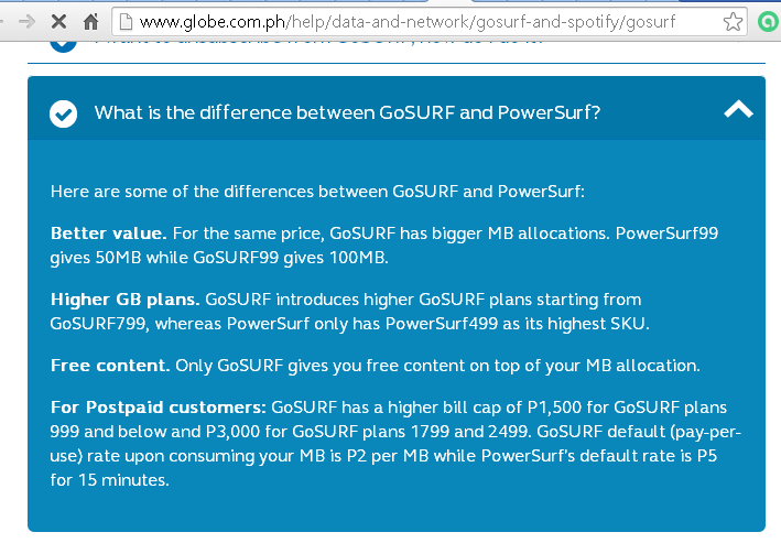 Globe's GoSurf Vs PowerSurf