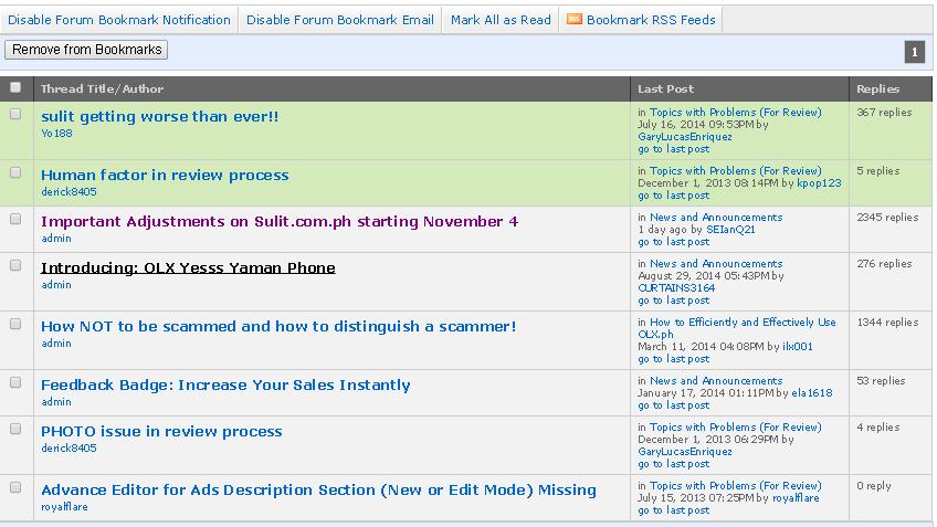 Sulit or OLX Forum Locked Threads